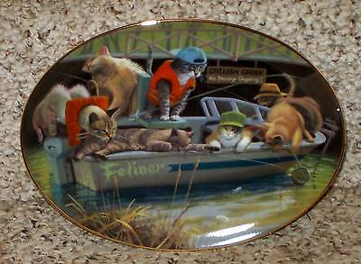 Catfish Creek by Bryan Moon Cat L.E. Collector Plate from Franklin Mint