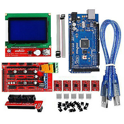 3D Printer Kit with RAMPS 1.4 Mega 2560 A4988 12864 LCD for Arduino RepRap
