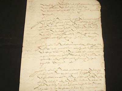 1493 French Document, 4 Pages, A-Grade