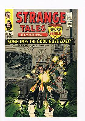 Strange Tales # 138 Sometimes the Good Guys Lose ! grade 8.5 scarce book !!