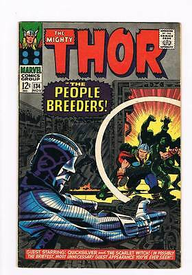 Thor # 134 The People Breeders !  grade 7.0 scarce book !!