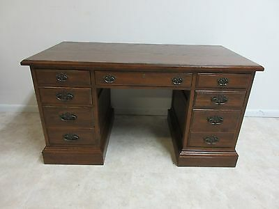 Ethan Allen Royal Charter Jacobean Carved Writing Office Desk 220