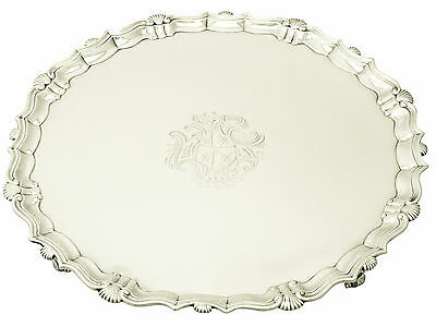 Sterling Silver Salver by John Tuite - Antique George II