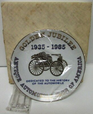 1985 AACA Golden Jubilee Commemorative Plate Antique Auto Club 50th Anniversary