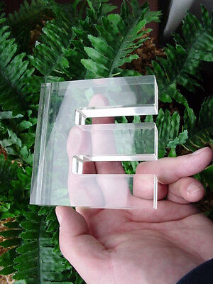 Vintage LUCITE - letter E - PAPERWEIGHT - letter holder - might be letter M or W