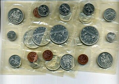 1965 Canada 6 Coin Silver Proof Set Lot Of 4