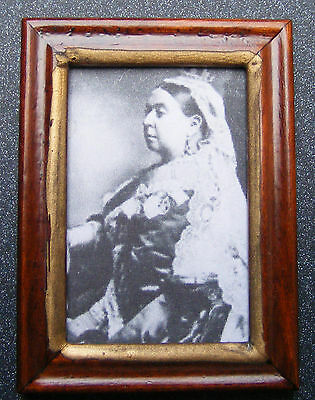 1:12 Scale Framed Picture Print Of Queen Victoria Dolls House Miniature Art 2 JD