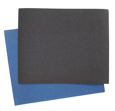 ES2328120 Sealey Emery Sheet Blue Twill 230 x 280mm 120Grit Pack of 25