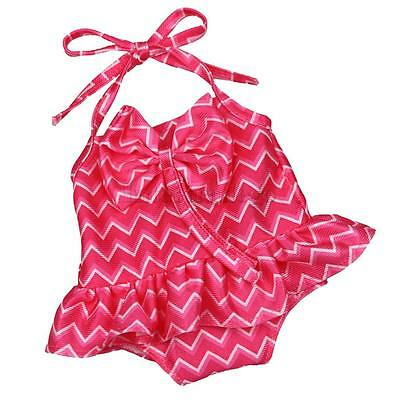 One-piece Lacing Swimsuit w/Bowknot Suit for 18'' American Girl My Life Doll