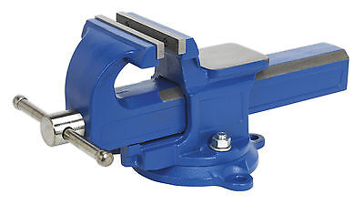 QAVE125 Sealey Vice 125mm Quick Action Swivel Base SG Iron [Vices] Machine Shop