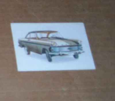 1 Chromo Super Chocolat Jacques Auto's 1962 L'opel Rekord Coupe N°52