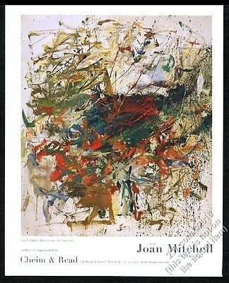 2004 Joan Mitchell untitled 1960 painting NYC art gallery print ad