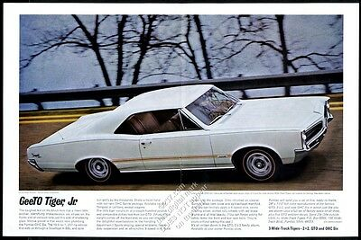 1966 Pontiac Tempest white car color photo vintage print ad