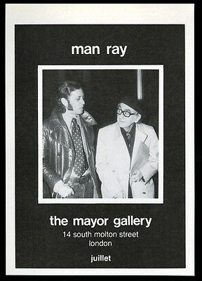 1974 Man Ray photo London art gallery vintage print ad
