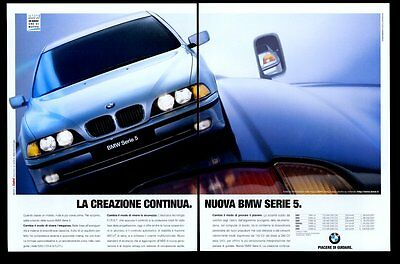 1996 BMW 5 series car photo Italian vintage print ad
