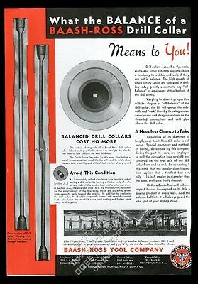 1935 Baash-Ross tools oil well drill collar vintage print ad