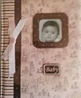 Pink And Brown Baby Girl Memory Record Book