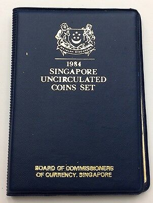 1984 Singapore 6 Coin Proof Set with Original Case, Year of the Rat