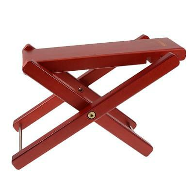 Folding Wood Foot Stool Rest for Acoustic Electric Classical Guitar Mahogany