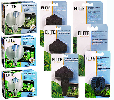 Hagen Elite Stingray 5 10 15 Aquarium Fish Tank Internal Filters Foams / Carbon