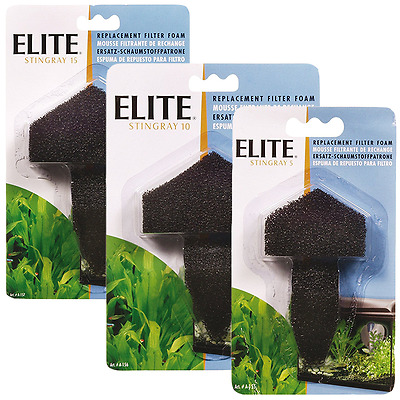Hagen Elite Stingray 5 10 15 Replacement Aquarium Tank Internal Filter Foam Pads