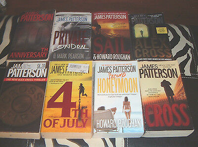Lot Of 8 James Patterson's Paperback Books