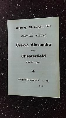 Crewe Alexandra V Chesterfield. 1971-72