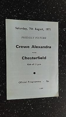 Crewe Alexandra V Chesterfield 1971-72.