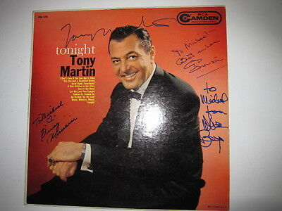 TONY MARTIN  Cyd Charisse Tonight lp AUTOGRAPHED