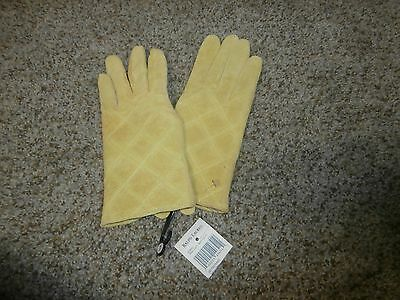 Women's RALPH LAUREN Suede Leather Gloves - size Large *NWT* Yellow