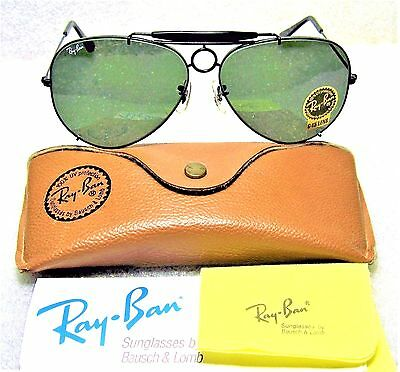 """RAY-BAN *NOS VINTAGE B&L AVIATOR """"SHARPSHOOTER *DELUXE III"""" 64mm *NEW SUNGLASSES"""