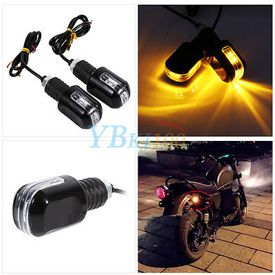 "Motorcycle 22mm 7/8"" Bar End Handlebar LED Turn Signal Brake Indicator Light 12V"