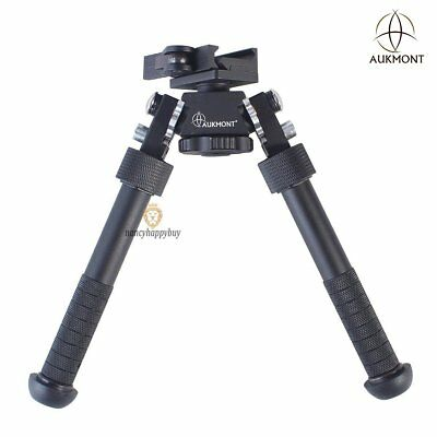 "Aukmont Pro Tactical 4.75 – 9.0"" Rotatable Bipod QD Auto Lock Picatinny Mount UK"