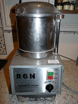 Robot Coupe R6N Commercial Food processor 3 Phase with stainless bowl and slicer