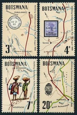 Botswana 88-91,91a sheet,MNH. Mafeking-Gubulawayo Trail,runner post,1972.Map.