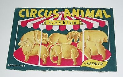 1950's Keebler Circus Animal Cookies Box Front