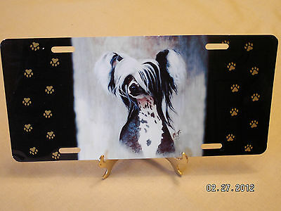 Chinese Crested License Plate Full Size Aluminum
