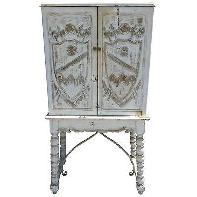 French Country Vintage Cabinet Sideboard Buffet White Farmhouse Cottage Chic