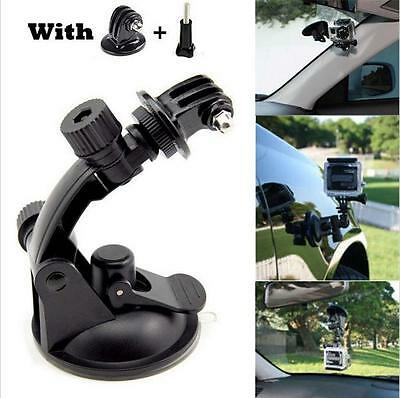 Black Car Suction Cup Adapter Window Glass Mount Holder Tripod for Gopro Hero 4