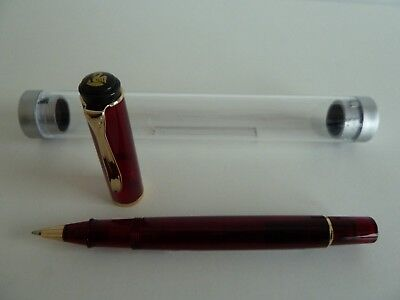 Pelikan R200 - Rollerball - rot transparent / Demonstrator - RAR !