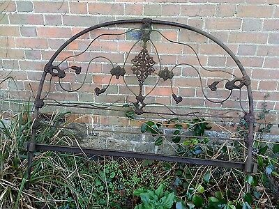 ANTIQUE VICTORIAN CAST IRON BED HEAD - reclaimed, rustic