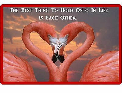 Pink Flamingo Love Quote Refrigerator / Locker / Tool Box  Magnet