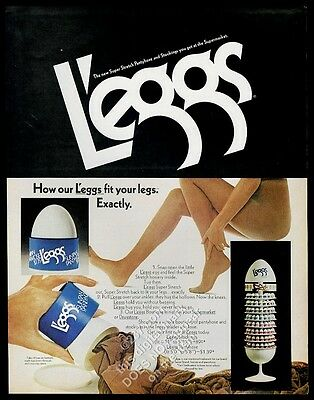 1972 L'Eggs panyhose Leggs woman color photo vintage print ad