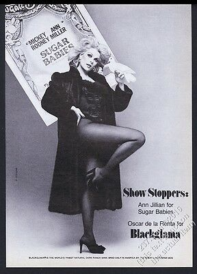 1979 Ann Jillian gorgeous photo Blackglama fashion vintage print ad