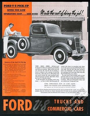 1936 Ford pickup pick-up truck photo vintage print ad