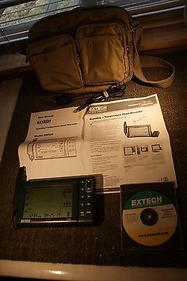 Lightly Used Extech Model RH520 Humidity and Temperature Recorder & Carry Case