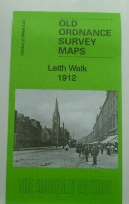 OLD ORDNANCE SURVEY DETAILED MAPS LEITH WALK EDINBURGH 1912 Sheet 3.04 New Map