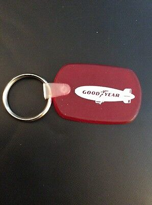 Vintage Red Goodyear Rubber Blimp Key Chain