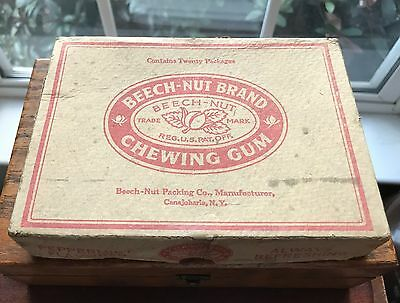 Scarce Vintage Early Beech-nut Brand Chewing Gum Counter 2 Piece Display Box