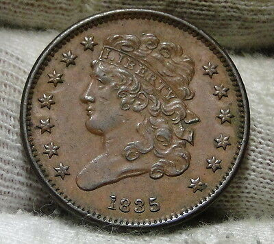 1835 Classic Head Half Cent - Nice Coin - Only 398,000 Minted (5920)